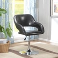 InRoom Designs Swivel Bar Stools ; Black