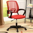 InRoom Designs Mid-Back Mesh Office Chair; Red