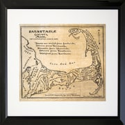 PENL Maps Vintage Barnstable County Map Framed Graphic Art