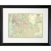 PENL Maps 1897 Brooklyn Map Framed Graphic Art