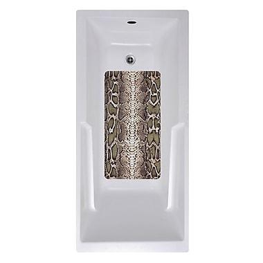 No Slip Mat by Versatraction 14 x 27 Snake Skin Bath Mat
