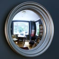 Reflecting Design Dorian 24 Convex Wall Mirror; Pewter