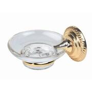 Alno Regency Soap Dish with Holder; Polished Brass
