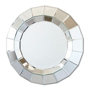 Twos Company Ainsworth Round Beveled Wall Mirror
