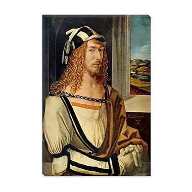 iCanvas 'Self-portrait' by Albrecht D rer Painting Print on Canvas; 40'' H x 26'' W x 1.5'' D
