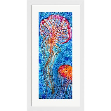 Evive Designs Jellyfish Duo by Natalie Talocci Framed Graphic Art