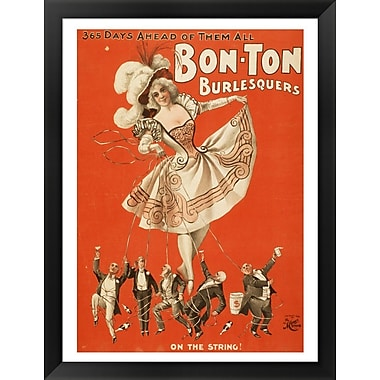 Evive Designs Bon-Ton Burlesquers Framed Vintage Advertisement