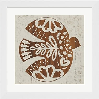 Evive Designs Country Woodcut III Framed Art