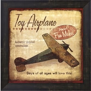 Evive Designs Toy Airplane Framed Art