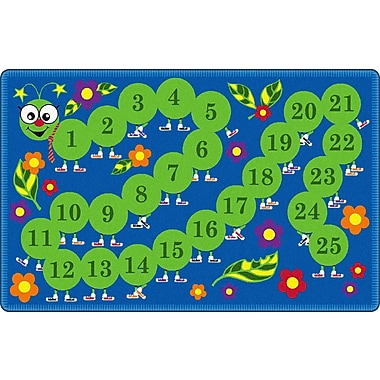 Flagship Carpets Counting Caterpillar Kids Rug; 6' x 9'