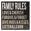 Fetco Home Decor Stefan Family Rules Framed Textual Art
