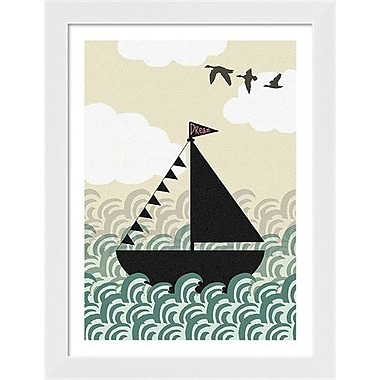 Evive Designs Dreamboat by Stephanie Bertenshaw Framed Graphic Art
