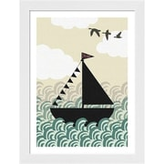 Evive Designs Dreamboat by Felt Mountain Studios Framed Graphic Art