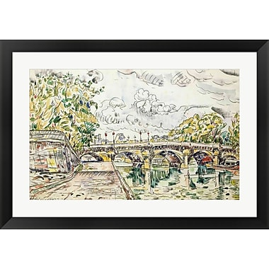Evive Designs The Pont Neuf, Paris, 1927 by Paul Signac Framed Painting Print