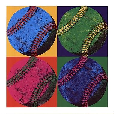 Evive Designs Ball Four Baseball Paper Print