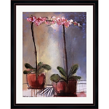 Evive Designs Orchid and Lace I by Marina Louw Framed Painting Print