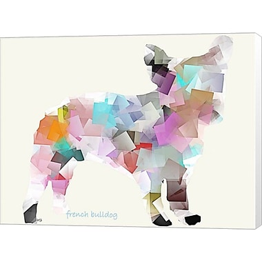 Evive Designs French Bulldog Bri Buckley Graphic Art on Wrapped Canvas