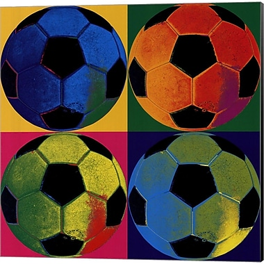 Evive Designs Ball Four Soccer Canvas Art