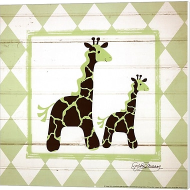 Evive Designs Giraffes Canvas Art