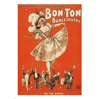 Evive Designs Bon-Ton Burlesquers Vintage Advertisement