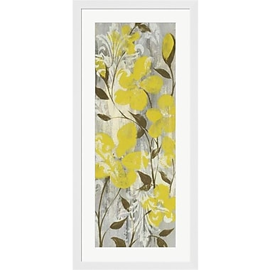Evive Designs Buttercups on Grey II by Jennifer Goldberger Framed Painting Print