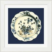 Evive Designs Porcelain Plate I by Vision studio Framed Graphic Art