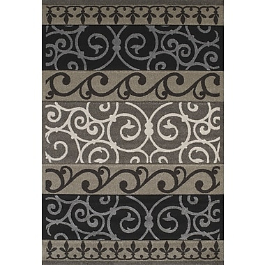 United Weavers of America Townshend Black Turner Rug; 5'3'' x 7'6''