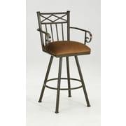 Iron Mountain Arthur 30'' Swivel Bar Stool with Cushion; Glow