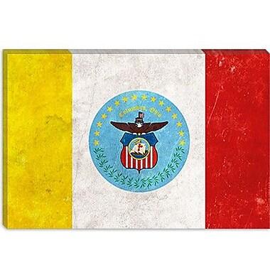 iCanvas Columbus Flag, Grunge Painting Print on Canvas; 12'' H x 18'' W x 0.75'' D