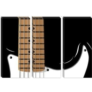 iCanvas 'Electric Guitar' by Michael Tompsett Graphic Art on Canvas; 18'' H x 26'' W x 1.5'' D