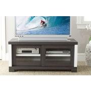 Safavieh Davis 47'' TV Stand; Dark Grey / Charcoal / Woodgrain / White