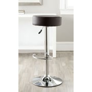 Safavieh Jude Adjustable Height Swivel Bar Stool with Cushion; Brown