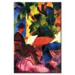 Buyenlarge 'Couple at the Garden Table' Painting Print on Wrapped Canvas; 24'' H x 16'' W