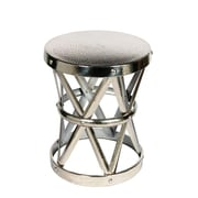 Fashion N You Hammered Drum Cross Table / Stool; Nickel