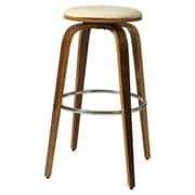 Pastel Furniture Yohkoh 30'' Bar Stool with Cushion; Ivory