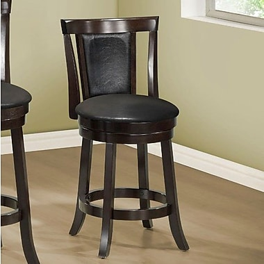 Monarch Specialties Inc. 25'' Swivel Bar Stool with Cushion (Set of 2)