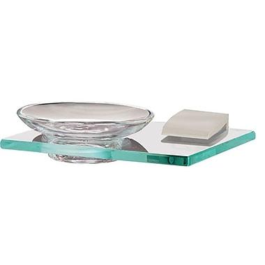 Alno Manhattan Soap Dish; Satin Nickel