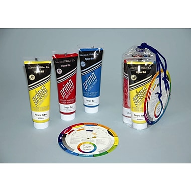 Weber Art Prima Acrylic - Three 118 ml Tubes - Primary Colors