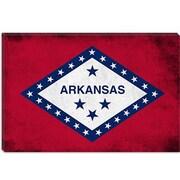 iCanvas Arkansas Flag, Grunge Graphic Art on Canvas; 26'' H x 40'' W x 0.75'' D