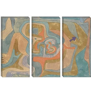 iCanvas 'Flying Away 1934' by Paul Klee Painting Print on Canvas; 26'' H x 40'' W x 1.5'' D