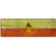iCanvas Jacksonville Flag, Wood Planks Panoramic Graphic Art on Canvas; 12'' H x 36'' W x 1.5'' D
