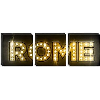 iCanvas 'Rome' by Michael Thompsett Textual Art on Canvas; 30'' H x 90'' W x 1.5'' D