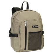 Everest Front Mesh Pocket Backpack; Khaki