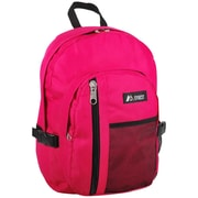 Everest Front Mesh Pocket Backpack; Hot Pink