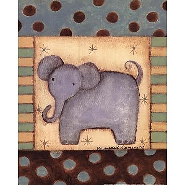 Evive Designs Baby Elephant Paper Print