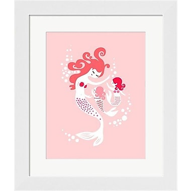Evive Designs Mermaid and Twin Daughter Framed Art