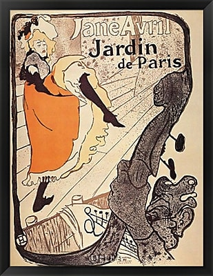 Evive Designs Jardin de Paris by Henri de Toulouse-Lautrec Framed Vintage Advertisement WYF078276658765