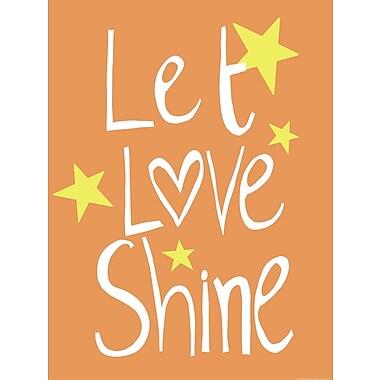 Evive Designs Let Love Shine Paper Print