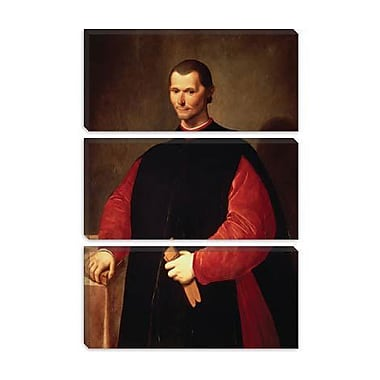 iCanvas Portrait Niccolo Machiavelli Painting Print on Canvas; 18'' H x 12'' W x 0.75'' D