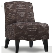 Emerald Home Furnishings Carrie Fabric Slipper Chair; Charcoal
